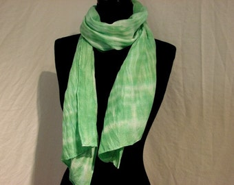 Wool and Silk Hand Dyed Scarf
