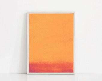 Modern Orange Print. Red and Orange Art. Orange Watercolor Print. Orange Abstract Print. Red Orange Print. Red Print. Orange Wall Art Print