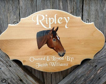 Hand Painted Portrait Stall Sign