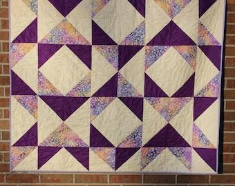 Batik Quilt, Homemade Quilt, Patchwork Quilt, Lap Quilt, Quilted Throw, Handmade Quilt, Sofa Quilt