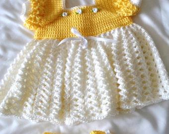 Crochet Princess Outfit 0-3 Months