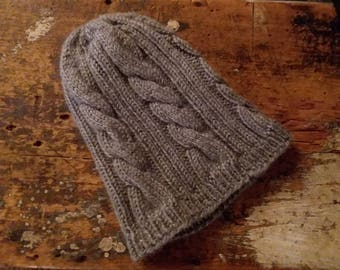 Hand Knit Cabled Beauty Hat