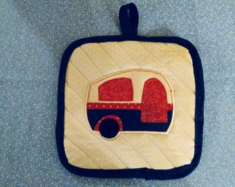 Vintage trailer potholder .