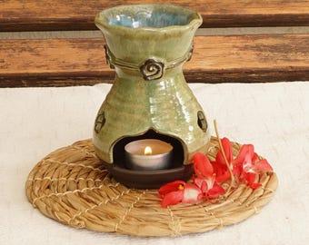 Essential oil diffuser, Ceramic oil burner, aromatherapy oil burner, Candle burner, Handmade ceramic  aromatherapy oil burner, Wheel thrown,