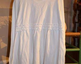 Girls long sleeve white Ruffle Shirt size 2T-10