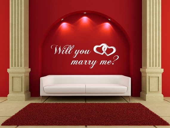 Marry Me... Vinyl Decal Wall Art