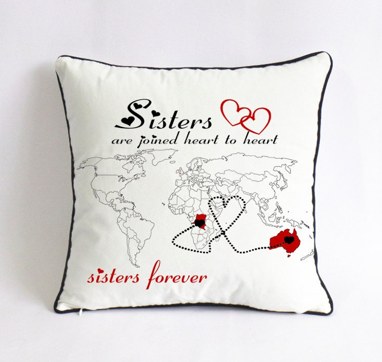Long distance sister pillow case custom little sister world zoom gumiabroncs Gallery