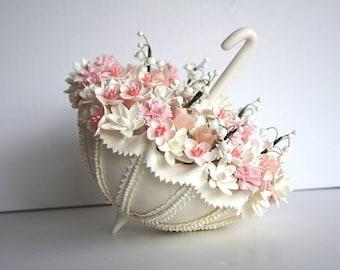 White Rose Cake Topper Flower Cake Topper Wedding Cake Flower