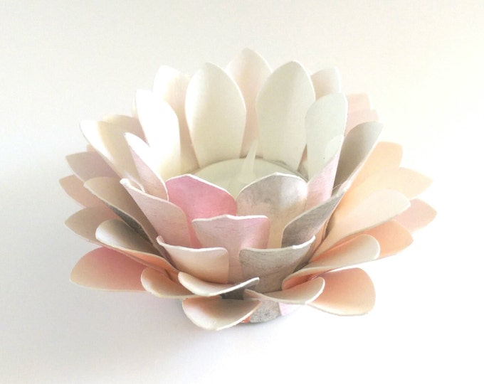Featured listing image: Paper Lotus Lantern -Watercolor Zen-
