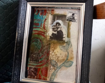 "Original mixed media small painting ""untitled diary"" 144"