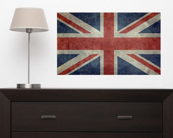 United Kingdom Union Jack Flag Wall Sticker Decal by Bruce Stanfield