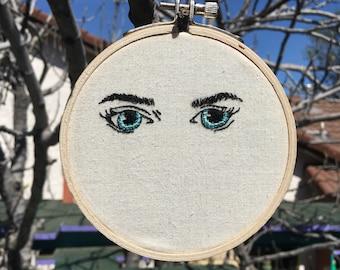 Embroidery Hoop Eyes