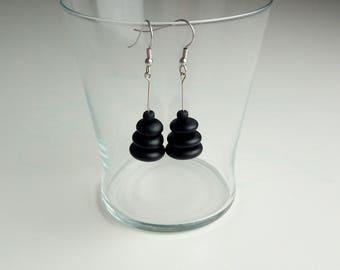 Flat Glass pearl earrings
