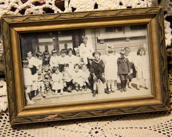 Vintage School Children Photograph - in original frame