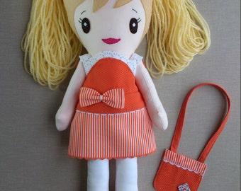Rag doll, Cloth doll, Hand Made Doll, Fabric Doll, Soft Doll, OOAK Rag Doll, OOAK Cloth Doll, Custom Rag Doll