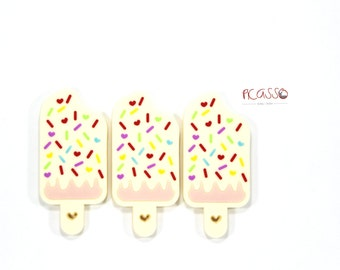 Teething toy ICE CREAM BARS, food grade silicone, baby gift, Sensory toys, Chewing pendant, Shower gift, Breastfeeding, Toy nursing