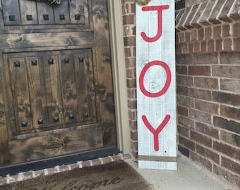 Christmas JOY sign, Christmas wood sign, Christmas Joy sign for front porch, Christmas Joy sign for front door