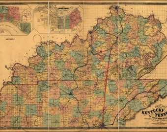 Poster, Many Sizes Available; Map Of Kentucky And Tennessee 1861 P2