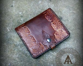 Brown Leather Celtic Wallet