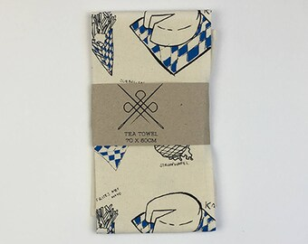 Tea Towel Lekker Eten: Blue