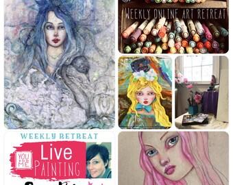 30 Day Access - Mixed Media ART Retreat with Suzi Blu