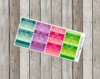 Cancelled Variety Planner Stickers for Erin Condren Life Planner (ECLP)