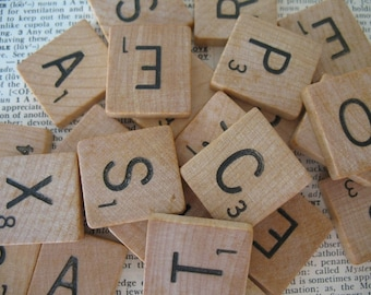 Scrabble Tiles, You Pick Your Letters, Scrabble Letters, Letters for Pendants, Scrapbooking, Mixed Media, Altered Art, Collage