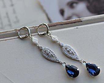 Art Deco Earrings , Vintage Style Crystal  Earrings, Bridal Earrings,  Wedding Earrings,   Drop Earrings,  Stud Earrings, Great Gatsby