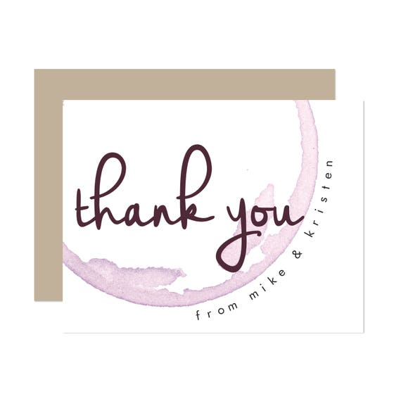 Modern Winery Thank You Cards