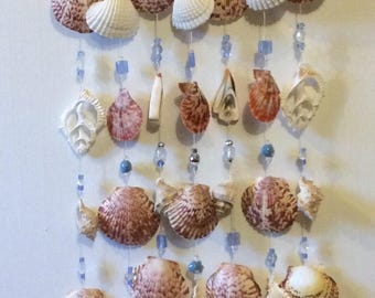 Handmade exotic seashell wall hanging/wind chimes