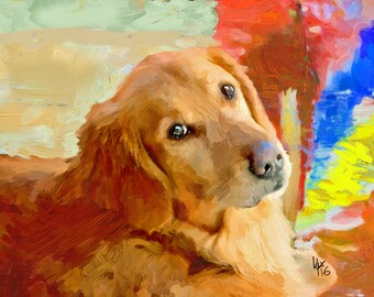 Golden Retriever Art Golden Retriever Dog art art retriever print print dog print dog dog wall art retriever art dog lover retriever paintin