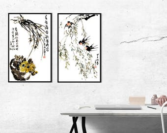 Watercolor Painting,Flower Watercolor Painting,Plant Painting,Wall Decor,Wall Art, Giclee Paper Print,Vertical Painting,Free Shipping