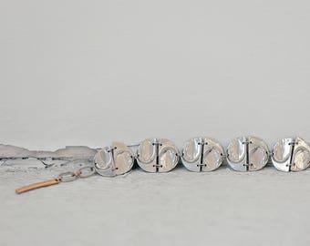 Simple and original pewter bracelet - Goya - Handmade in Canada
