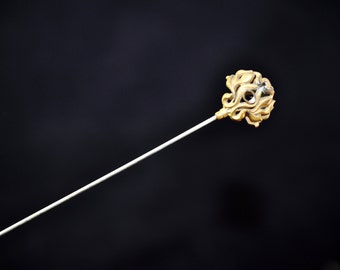 Wonderful Victorian Hat Pin Gold Filigree, Vintage hat pin, great gift, Collectible We have more, We have lots of Antiques in our shop #1527