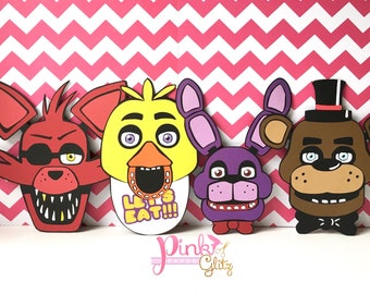 Five Nights at Freddy's Party, Five Nights at Freddy's Birthday, Five nights at Freddy's Centerpiece, FNAF Birthday, FNAF Party