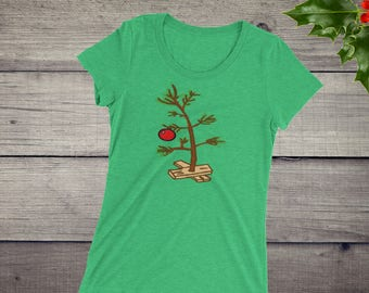 A Charlie Brown Christmas Inspired Ladies' short sleeve t-shirt