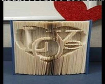 """Carving book """"Love"""" 3D"""