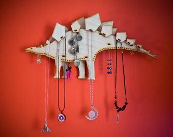 Stegosaurus Jewelry Holder - Jewelry organizer - necklace holder - earring stand - necklace stand - dinos - dinosaurs - bracelet holder