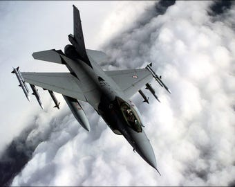 Poster, Many Sizes Available; Royal Norwegian Air Force F-16A Fighting Falcon Balkans 1999