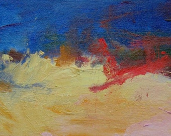 Summer GICLEE ART print abstract red yellow blue