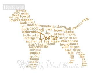 Labrador Dog Word Art, Personalized Pet Owner Gift, Labrador Dog Art, Dog Lover Gift, Personalized Pet Memorial, PRINTABLE DIGITAL FILE