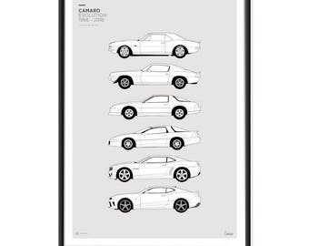 Chevrolet Camaro Generations Poster