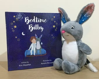 Bedtime Bilby children's picture book + plush bilby toy
