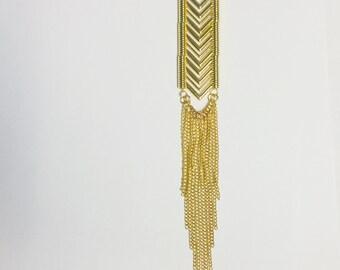 Tiered Chevron Chain Necklace