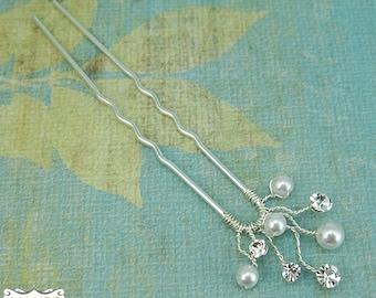 WEDDING HAIR PIN, bridal hair accessories, rhinestone hairpin, bridal hair pearl, bridal hairpins, wedding hairpins,headpieces, 205695841