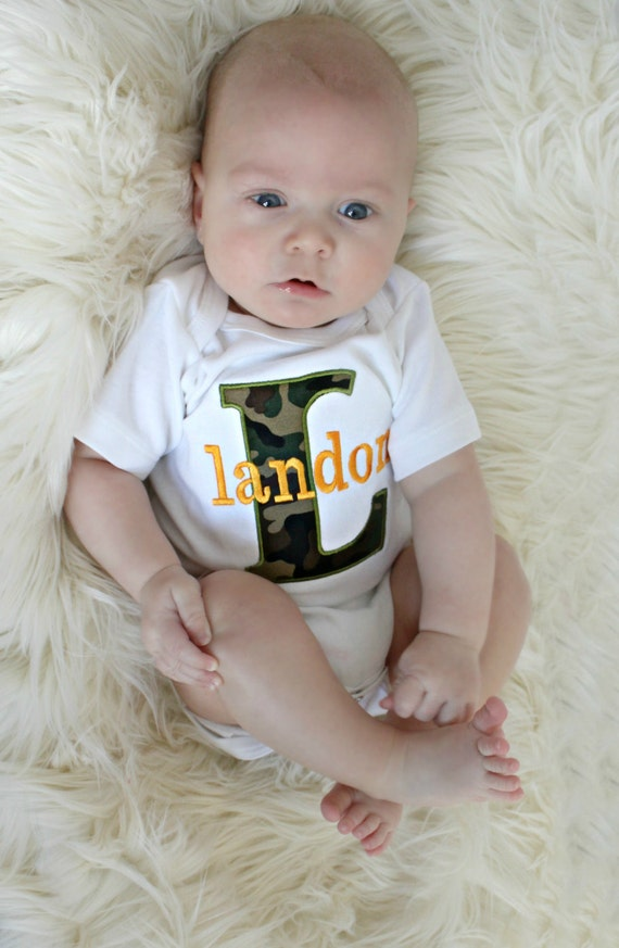 Baby shower gift boy monogrammed baby boy clothes camo baby baby shower gift boy monogrammed baby boy clothes camo baby boy personalized baby boy outfit perfect for twins monogram boy outfit negle Image collections