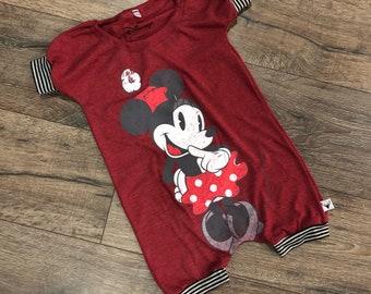 Disney baby clothes etsy minnie mouse baby romper handmade baby bodysuit baby bodysuit custom baby gift negle Choice Image