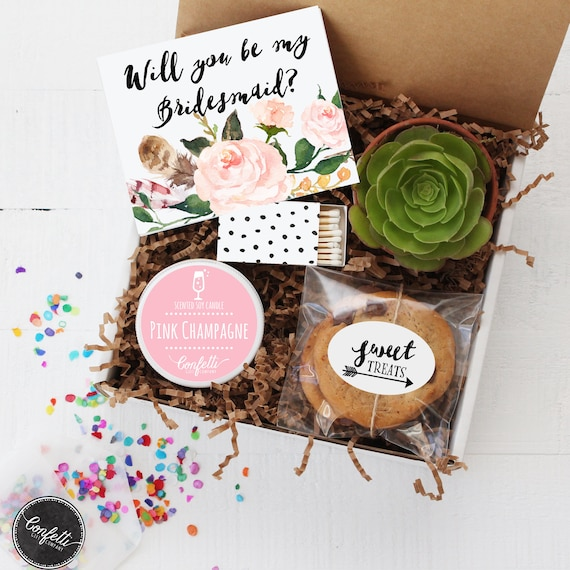 will you be my bridesmaid gift box will you be my of