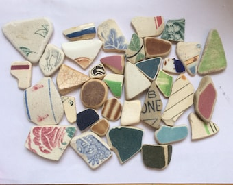 Scottish genuine sea pottery lot