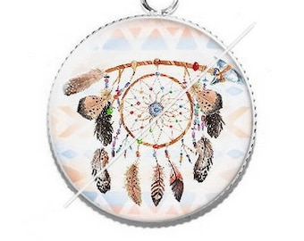 Cabochon resin dreamcatcher dream catcher pendant